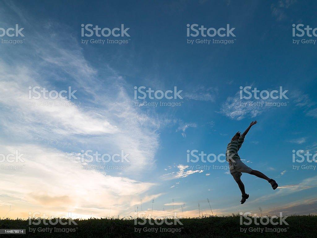 Jump for Joy stock photo