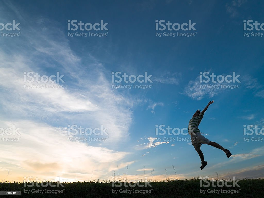 Jump for Joy stock photo