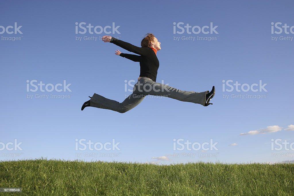 jump girl royalty-free stock photo