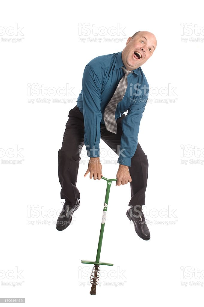 Jump in Business stock photo