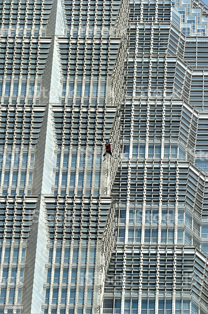 BASE Jump in Shanghai royalty-free stock photo