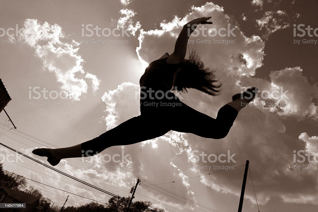 Jump in the Air royalty-free stock photo