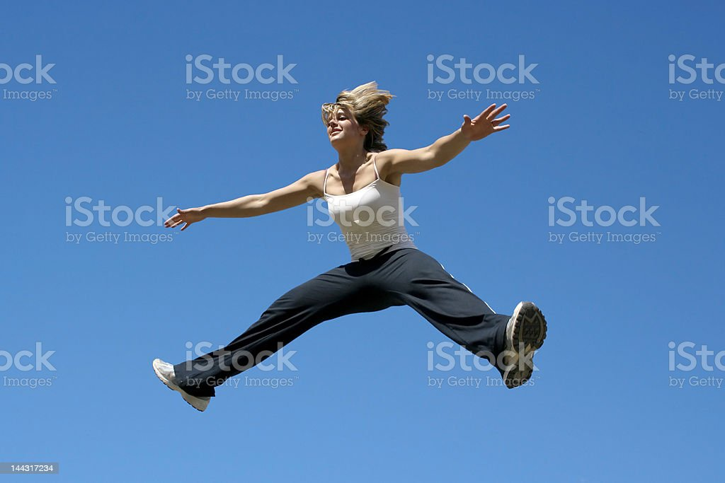 Jump in the sky royalty-free stock photo