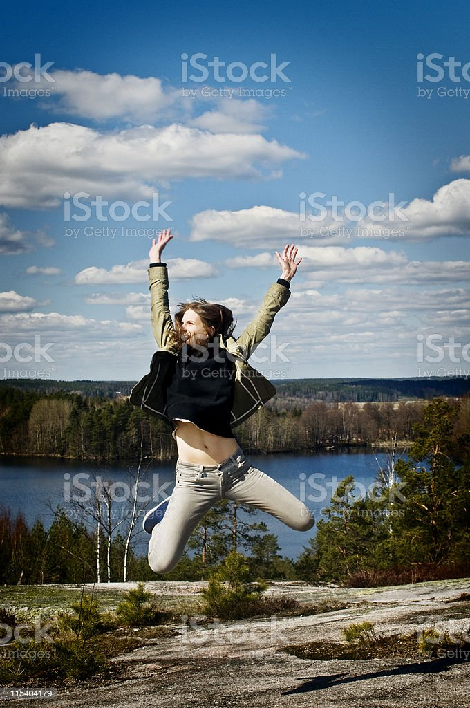 jump lake royalty-free stock photo