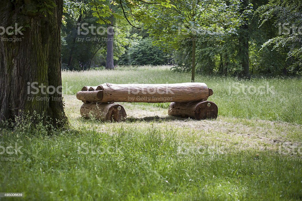 Jump obstacle, horse course stock photo