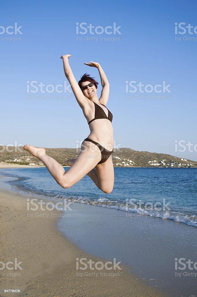 Jump on the Beach royalty-free stock photo