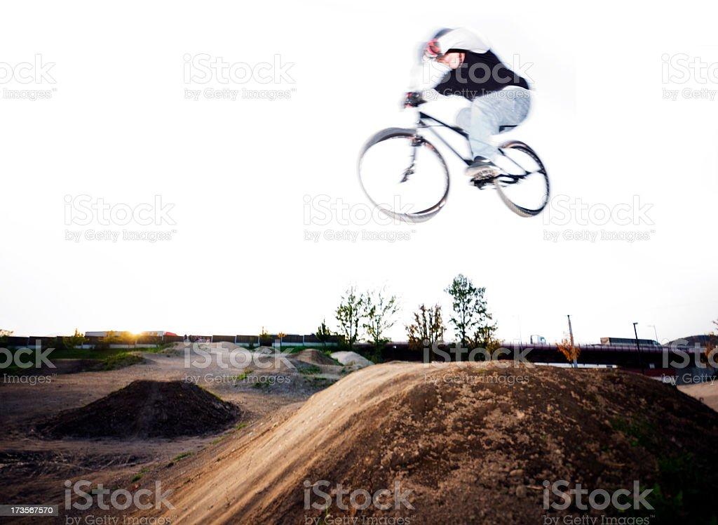BMX Jump royalty-free stock photo