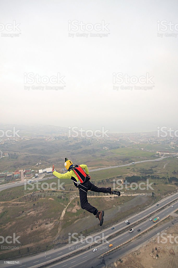 BASE jump royalty-free stock photo