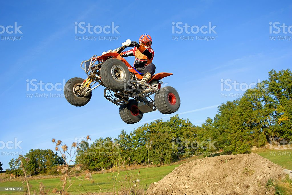 Jump quad. stock photo