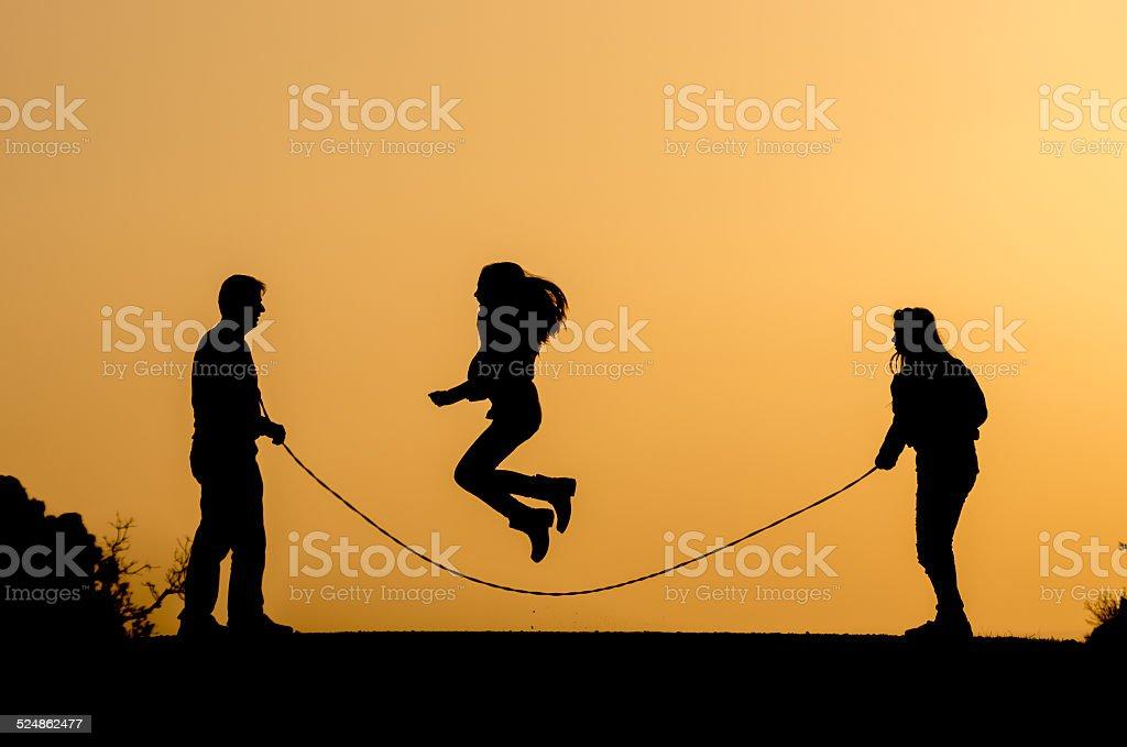 jump rop stock photo