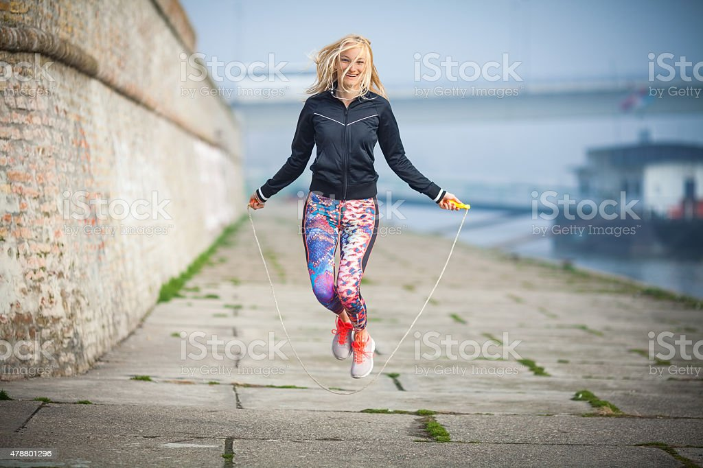 Jump Rope Exercise stock photo