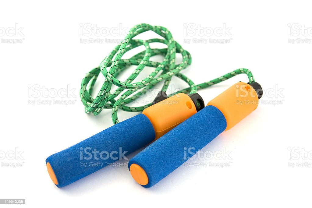 Jump rope isolated royalty-free stock photo
