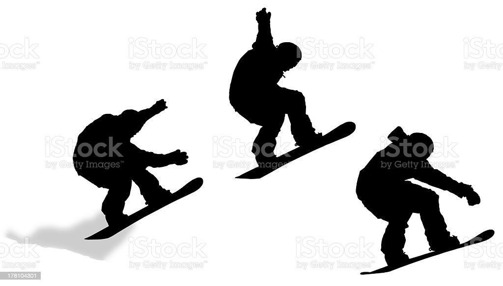 Jump Sequence Silhouette royalty-free stock photo