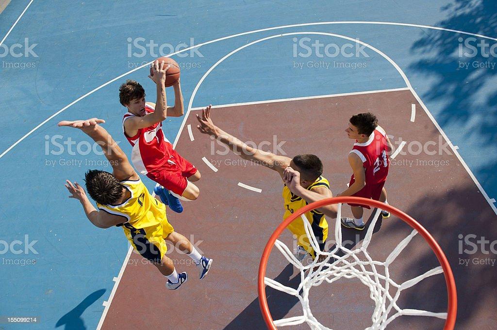 Jump shot royalty-free stock photo