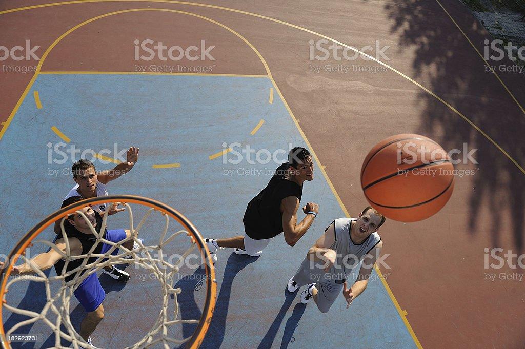 Jump shot royalty-free stock photo