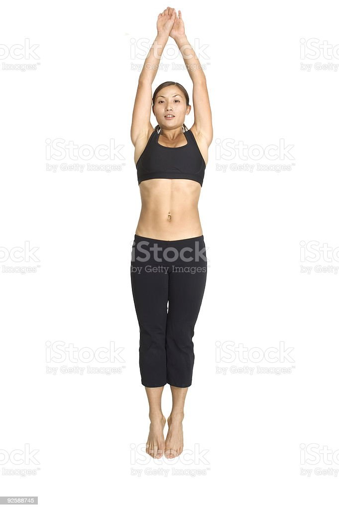 Jump Squat 4 royalty-free stock photo