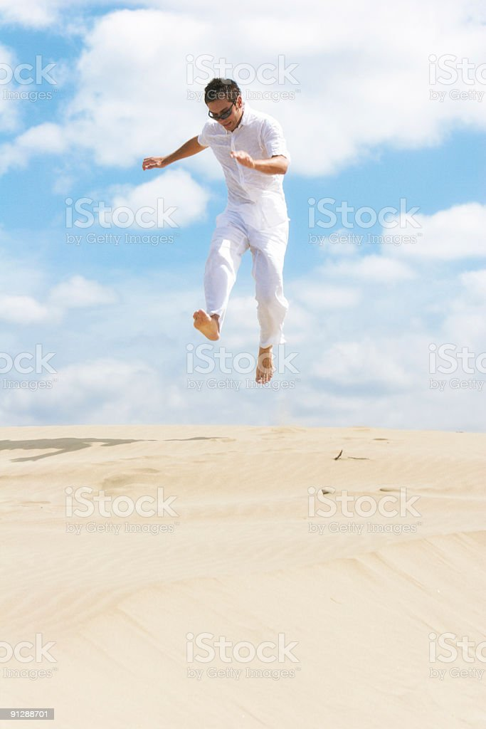 Jump to freedom royalty-free stock photo