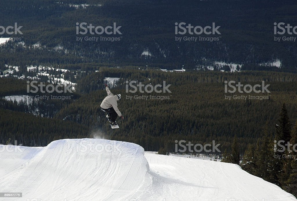 Jump to Nowhere! stock photo