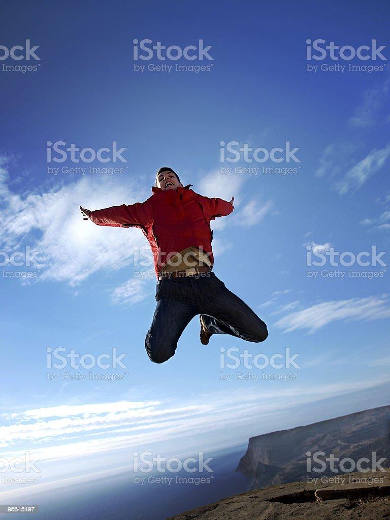 Jump to paradise royalty-free stock photo