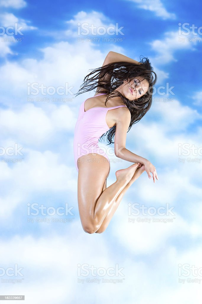 Jump to the sky royalty-free stock photo