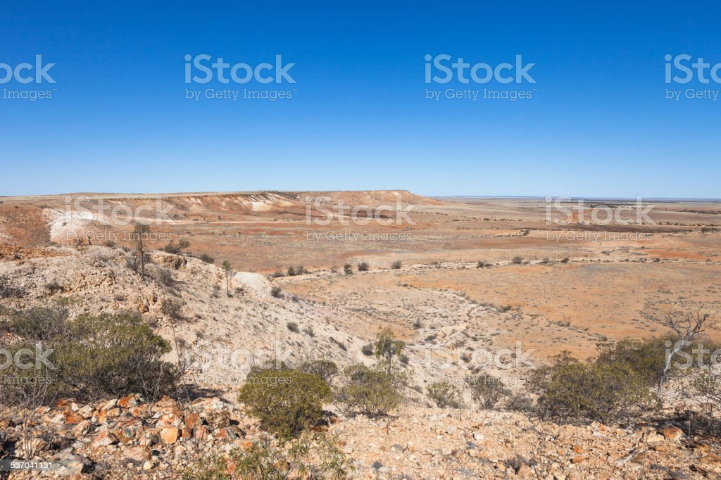 Jump Up Mesas in the outback Australia. stock photo