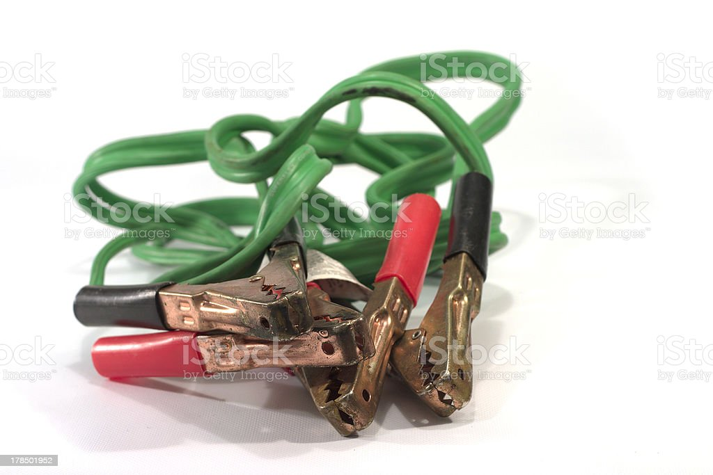 jumper cable royalty-free stock photo