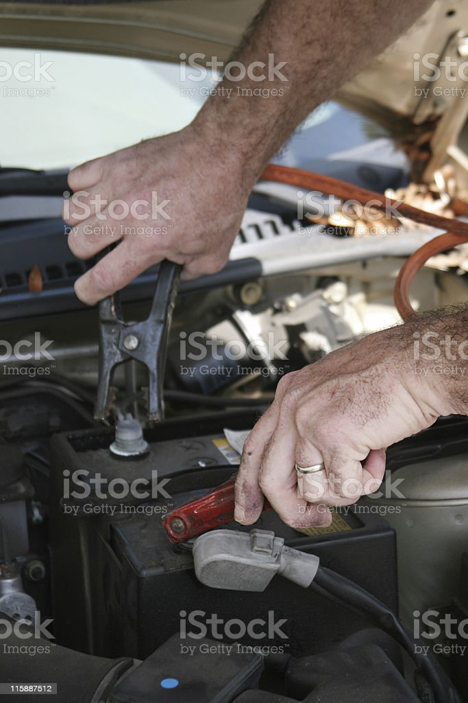 Jumper Cables royalty-free stock photo