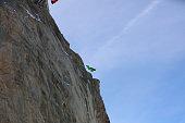 BASE Jumper in Wingsuit