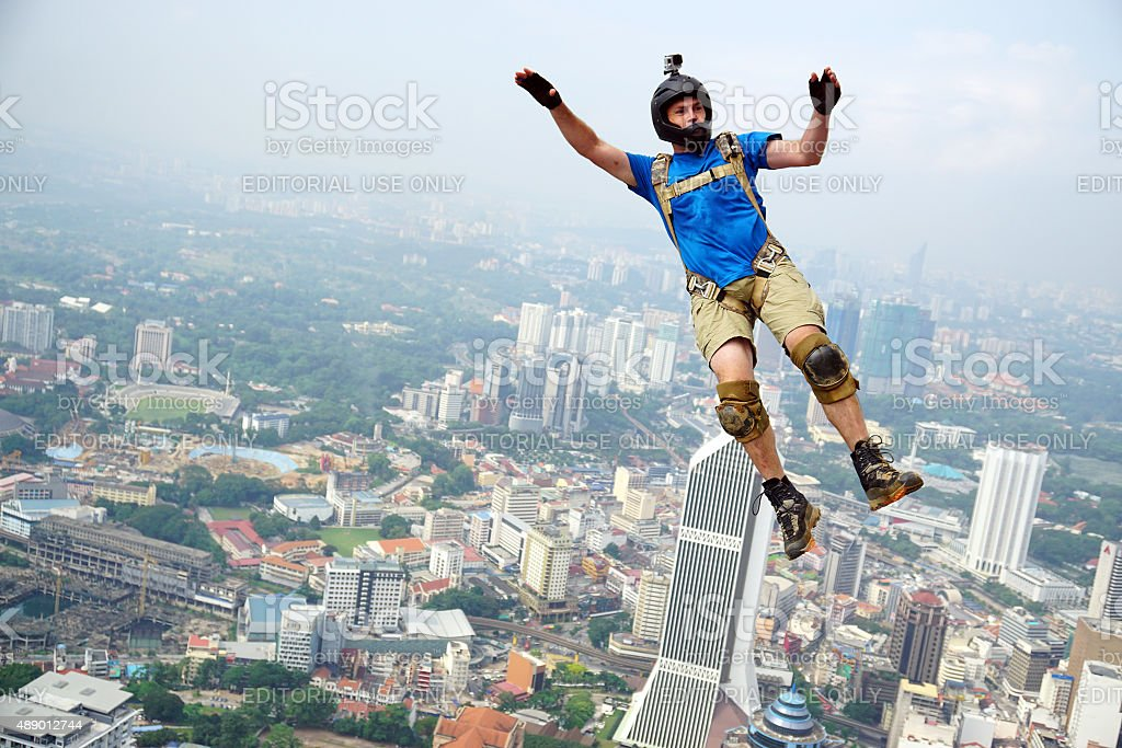 BASE Jumper stock photo
