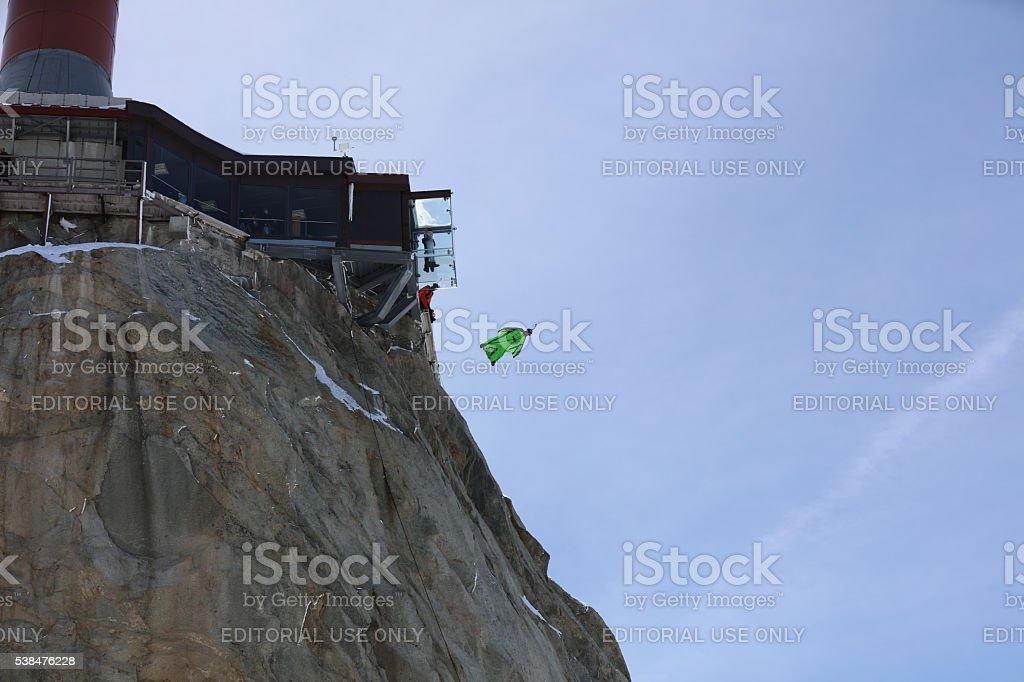 BASE Jumper stock photo