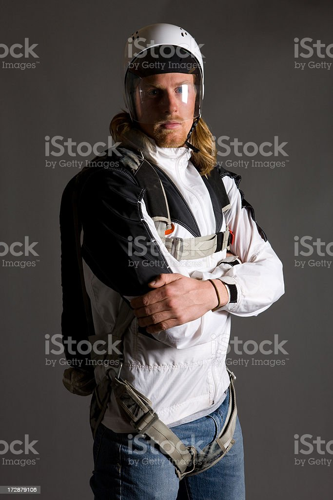 BASE Jumper Portrait royalty-free stock photo