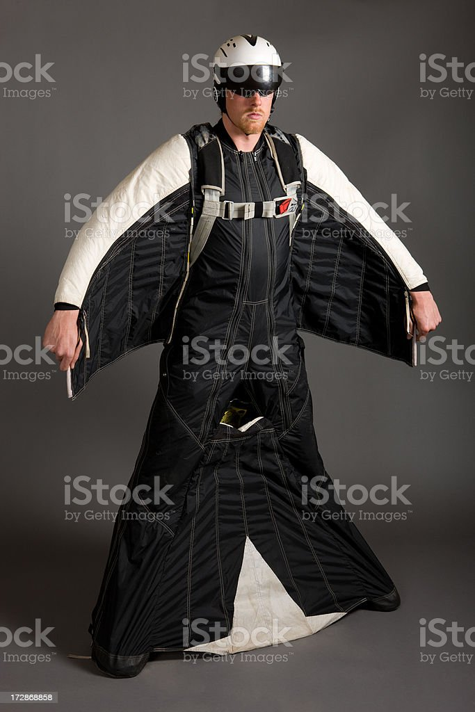 BASE Jumper Wing Suit stock photo