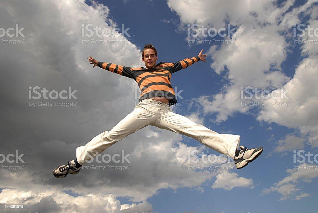 Jumpin' royalty-free stock photo