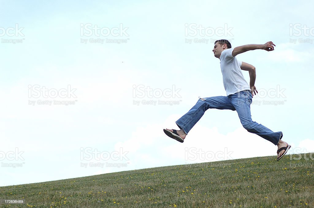 Jumping Around royalty-free stock photo