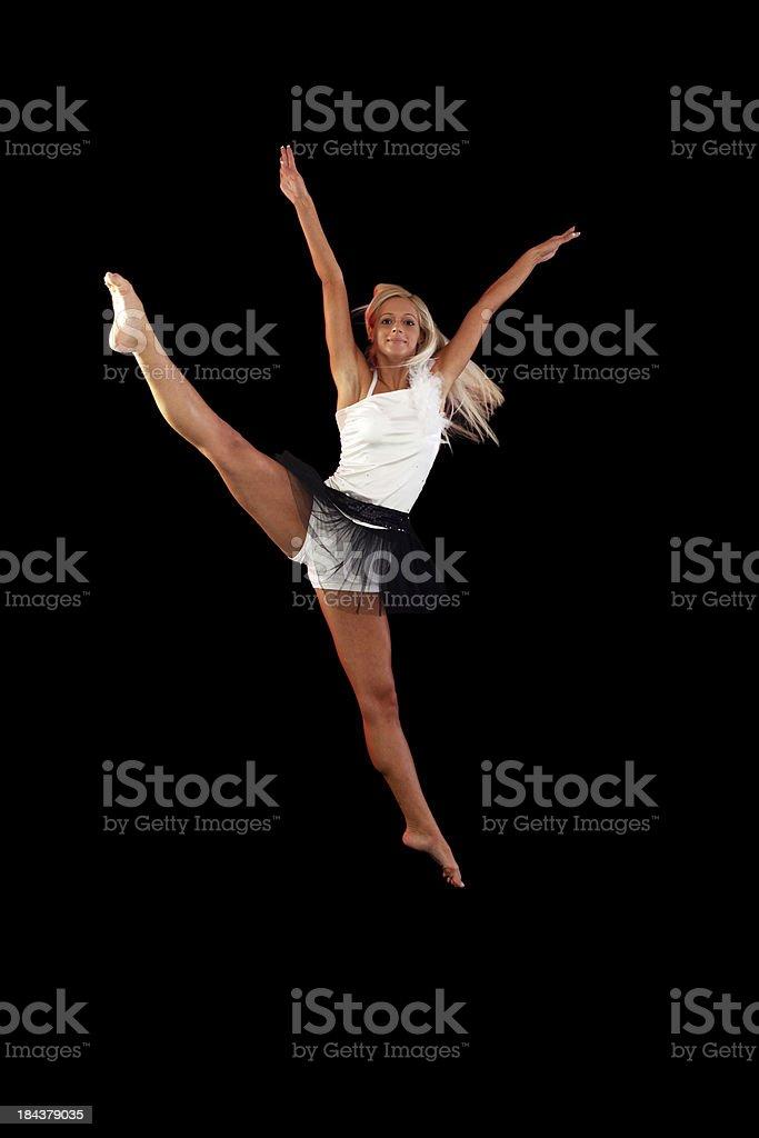 Jumping ballet dancer. royalty-free stock photo