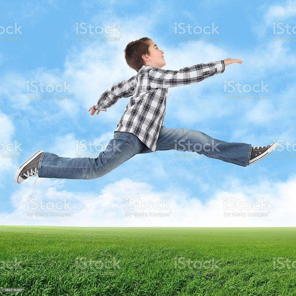 Jumping Boy royalty-free stock photo