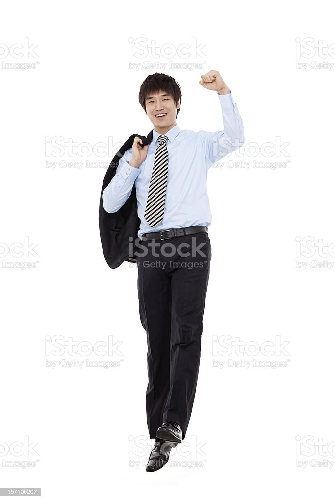 Jumping business man royalty-free stock photo