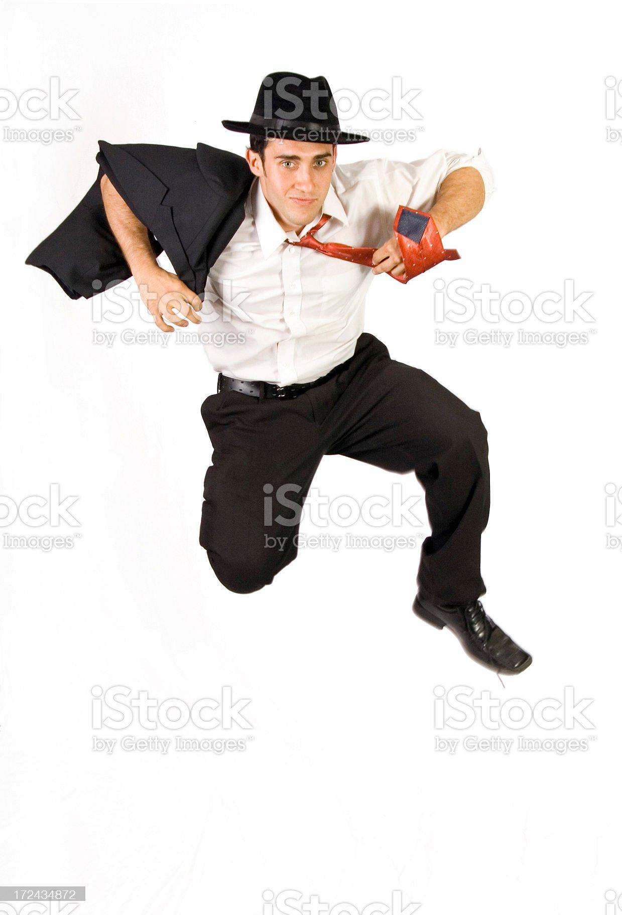 Jumping Businessman royalty-free stock photo