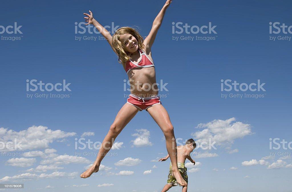 Jumping Children Series royalty-free stock photo