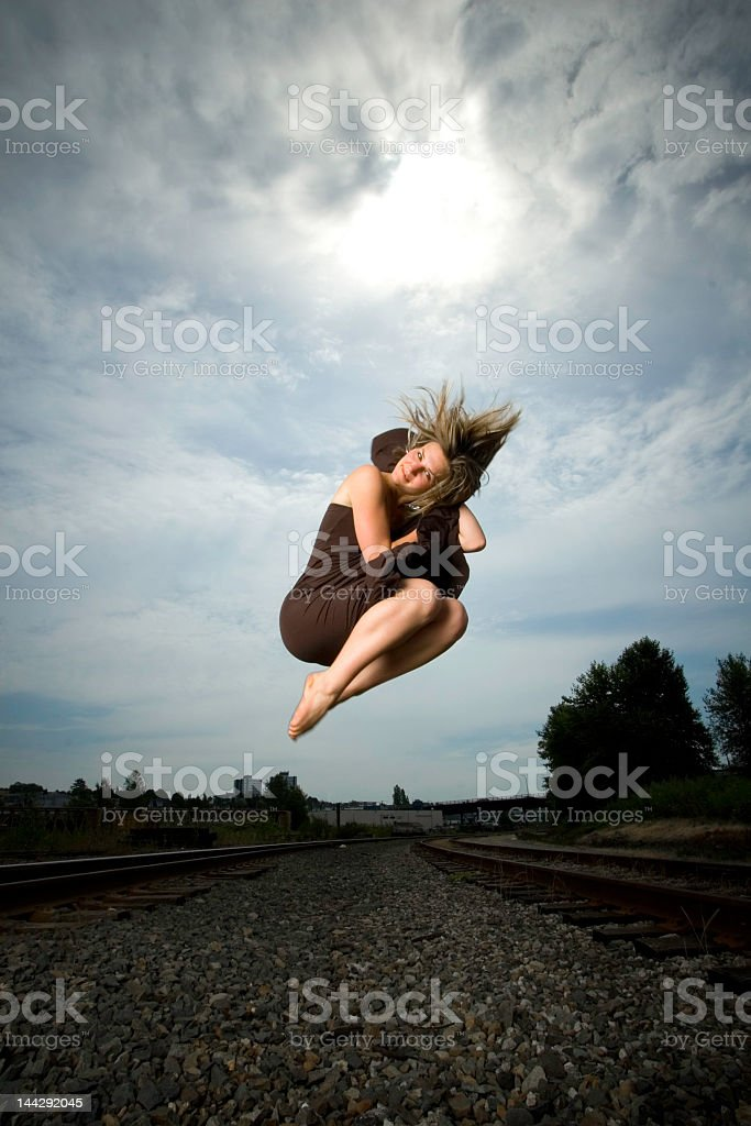 jumping dancer royalty-free stock photo