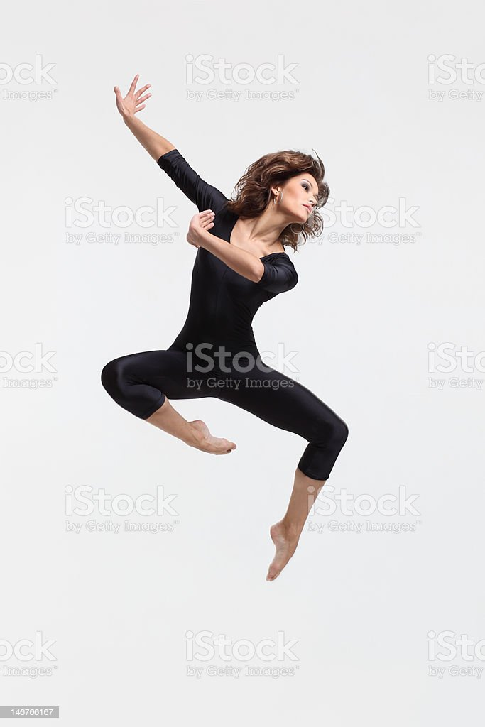 jumping dancer stock photo