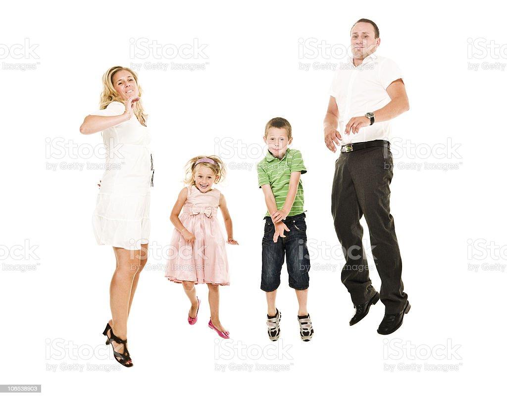 Jumping Family royalty-free stock photo