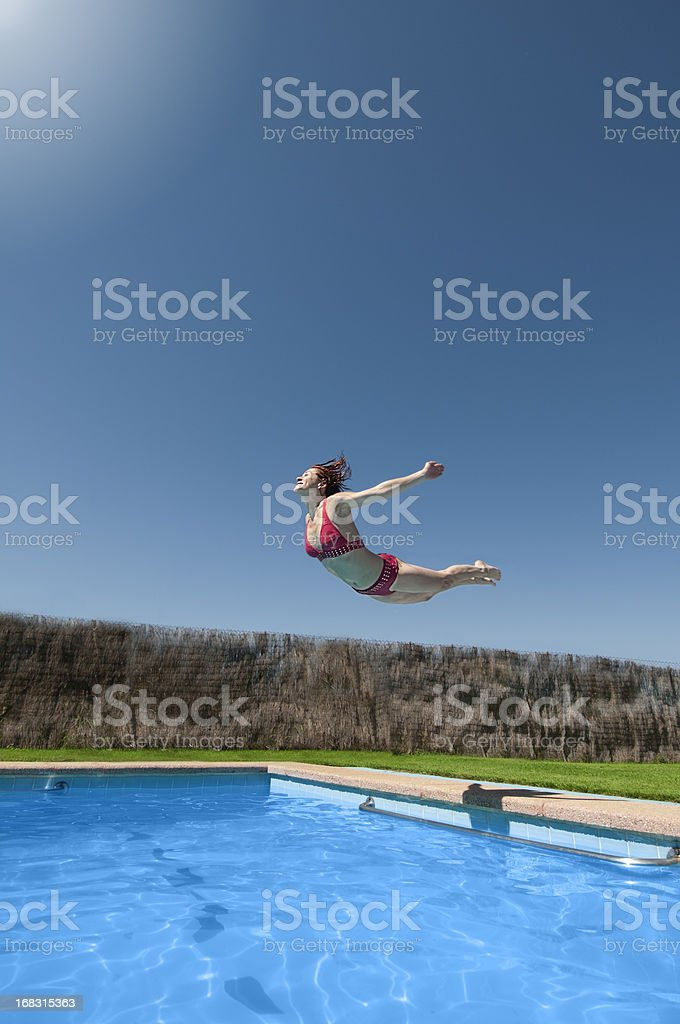Jumping fly royalty-free stock photo