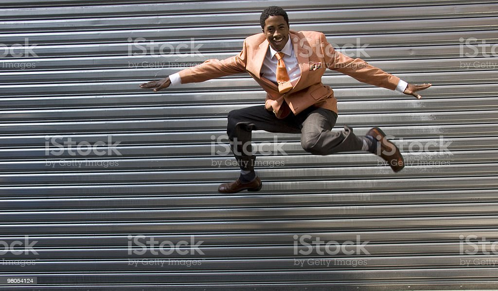 Jumping for Fashion royalty-free stock photo