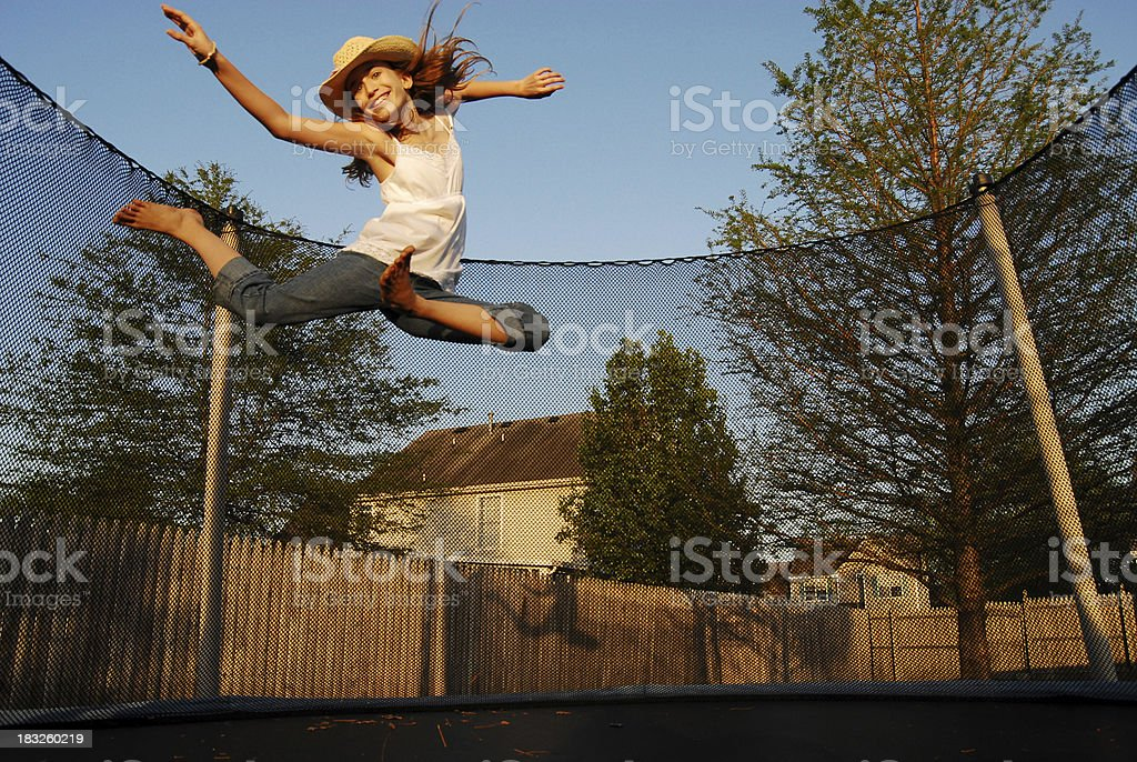 Jumping for Joy! royalty-free stock photo