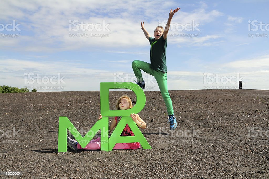 jumping from right stock photo