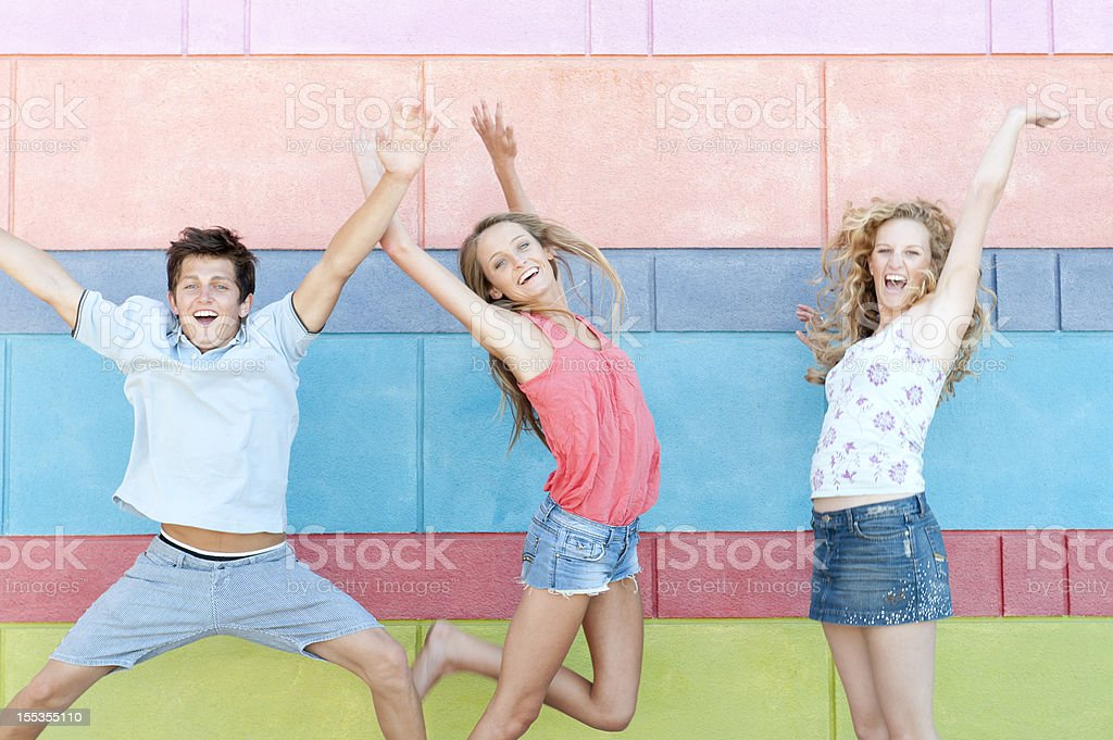 Jumping Fun royalty-free stock photo
