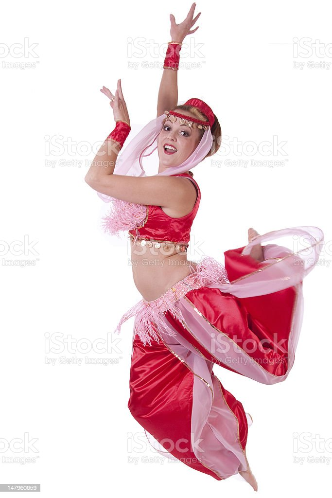 Jumping Genie royalty-free stock photo