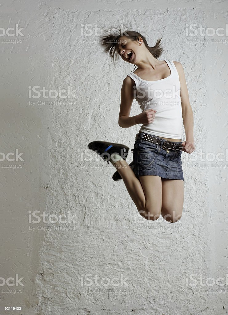 Jumping girl royalty-free stock photo