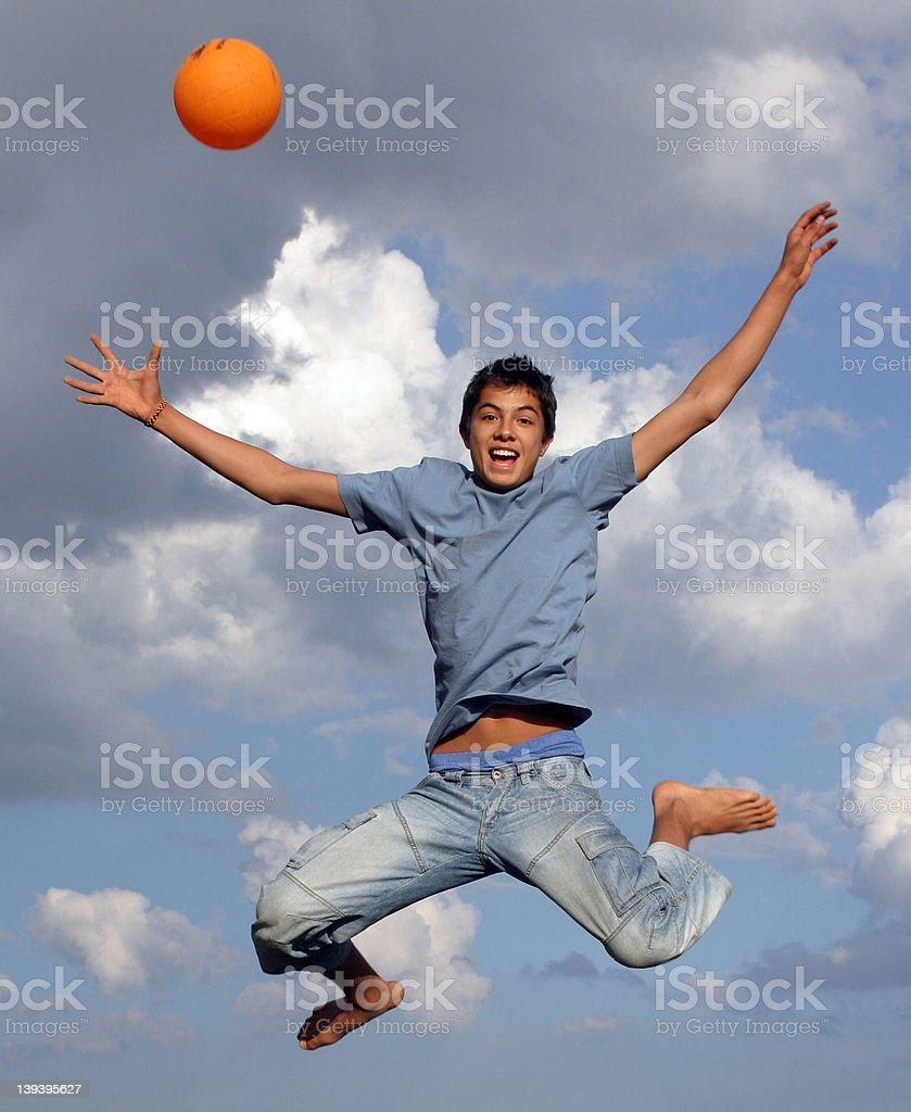 Jumping High royalty-free stock photo